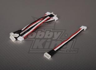 Male JST-XH <-> Female Kokam 3S 10cm (5pcs / bag)