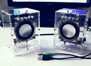 DIY Active Speaker Set met Clear Case