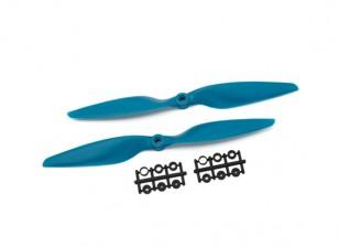 Gemfan Glass Nylon 1045 2- Bladed Propeller Blue (CW / CCW) (1 paar)