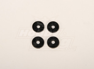 Rotorbladen Plastic ring voor 50 heli 4x20x2mm (4 stuks)