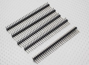 90 graden Pin Header 1 x 30 Pin 2.54mm Pitch (5PCS)