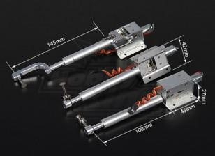 Turnigy Full Metal Servoless Retract met 100mm Oleo Legs (Tricycle) 1.20 klasse