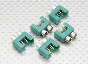 MPX connector met zilverkleurige ring, mannelijke (5 stuks per zak)