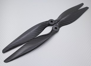 Carbon Fiber Propeller 12x6 Black (CW / CCW) (2 stuks)