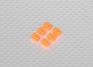 Servo Mount Tabs voor Helicopter Frame (6 stuks / zak) - Oranje