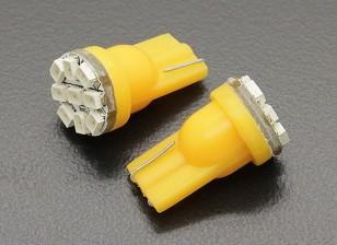LED Corn Light 12V 1.35W (9 LED) - Geel (2 stuks)