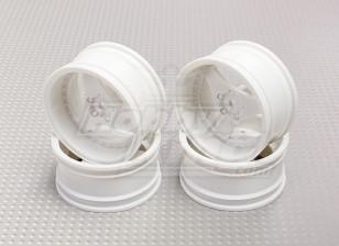 01:10 Schaal Wheel Set (4 stuks) Witte 3-Spoke RC Car 26mm