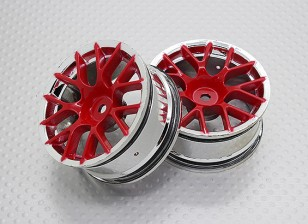 01:10 Scale High Quality Touring / Drift Wheels RC Car 12mm Hex (2pc) CR-CHR