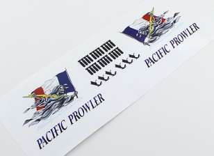 "TD-027 Nose Art - ""PACIFIC PROWLER"" (Franse vlag) L / R Handed Decal"