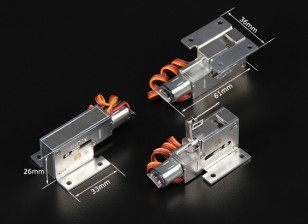 Turnigy Full Metal Servoless Zet vrij w / stuurbare neusmontage (3mm pin)