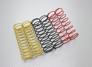 Achter Shock Springs Zwart / geel / rood (2 stuks per kleur) - A2038 en A3015