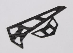 Assault 700 DFC - Carbon Fibre horizontale / verticale Tail Fin Set
