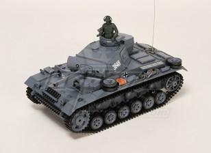 Panzer Kampfwagen III Ausf.L RC Tank RTR w / Airsoft & Tx