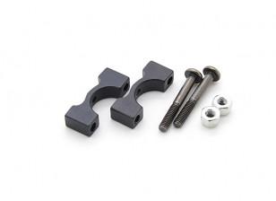 Zwart geanodiseerd CNC aluminium buis Clamp 10mm Diameter
