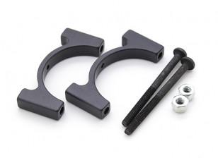 Zwart geanodiseerd CNC aluminium buis Clamp 25mm Diameter