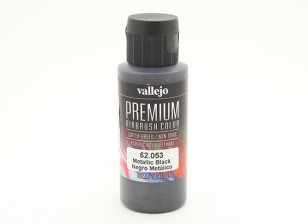 Vallejo Premium Color Acrylverf - Metallic Black (60ml)