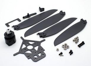 8-9 inch variabele Pitch Propeller Setup w / Koppeling Montage en Mount