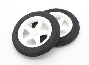 Light Foam Wheel 5 spaaks (Diam: 65mm, breedte 10mm) (2pc)