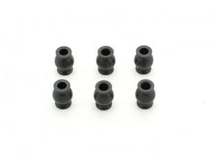 6.8 Steering Ball Stud (6 stuks) - BSR 1/8 Rally T08891