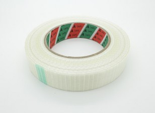 High Strength Chequered Fibre Tape. 24.5mm x 50m