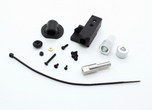 RotorBits Servo Mount Set w / Gear (zwart)