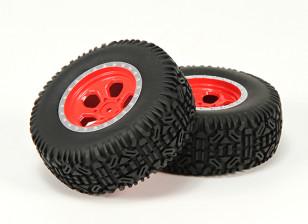 Wiel / Invoegen / Tire Set (2) - Basher Nitro Circus1 / 10 SCT