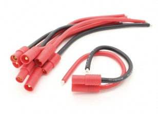 HXT 3.5mm met 14AWG Silicon Wire 10cm (Battery Side) (5 stuks)