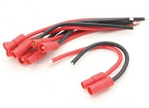 HXT 3.5mm met 14AWG Silicon Wire 10cm (ESC Side) (5 stuks)