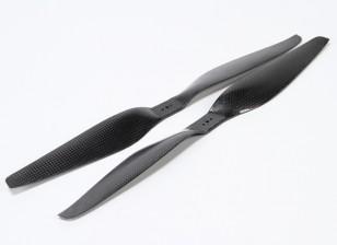 Multirotor Carbon Fiber T-Style Propeller 16x5.5 Black (CW / CCW) (2 stuks)