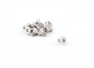 Titanium M2 x 4 Verzonken Hex Screw (10st / bag)