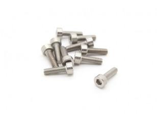 Titanium M3 x 10 Sockethead Hex Screw (10st / bag)