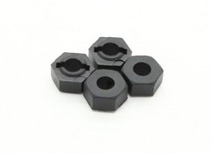 Wheel Hub (4 stuks) - Basher 16/01 Mini Nitro Circus MT