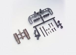 Yokomo Realistisch Muffler Set - Gun Metal