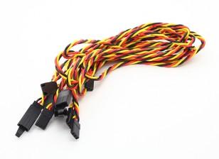 Twisted 60cm Servo Lead Extention (JR) met haak 22AWG (5pcs / bag)