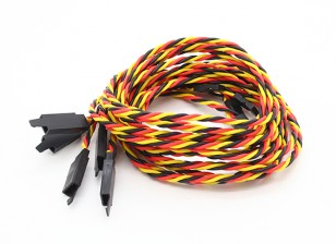 Twisted 80cm Servo Lead Extention (JR) met haak 22AWG (5pcs / bag)