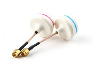 5.8GHz circulair gepolariseerde antenne Set-zender en ontvanger (SMA)