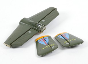 HobbyKing B-25 1250 - Vervanging Main Wing Tail Set