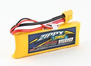 Pack ZIPPY Compact 1500mAh 2s 40c Lipo