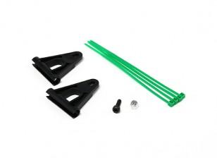 RJX Tail Boom Ondersteuning Versterking voor 6mm Rods - Black