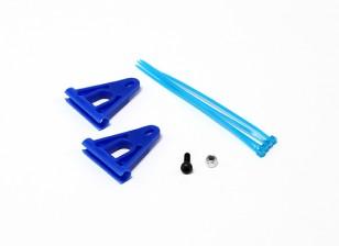RJX Tail Boom Ondersteuning Versterking voor 6mm Rods - Blue