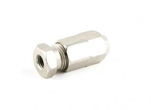 """HobbyKing ™ Stainless Steel Marine Flexi-Shaft Adapter 1/4 """"UNF-5mm"""