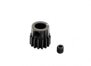 Hobbyking ™ 0,7M gehard staal Helicopter Pinion Gear 6mm Shaft - 15T