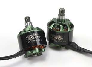 Multistar Elite 2312 980KV Motor Set CW / CCW EZO Lagers, 4mm Main Shaft, N45SH Magneten (2 Motoren)