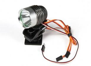 Krachtige Zoeklicht met ingebouwde Pan / Tilt en Remote Light Mode Schakelen