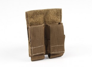 Grey Ghost Gear Double Pistol Mag Pouch (Coyote Brown)