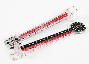 Upswept LED wapens voor V500 / H550 en DJI Flamewheel Multirotors (Rood) Upgrade (2 stuks)