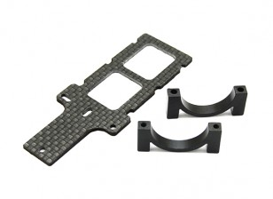 Carbon FPV Transmitter Mount met 22mm Boom Clamp