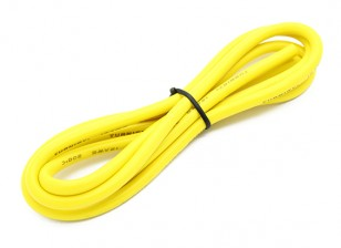 Turnigy Hoge kwaliteit 12AWG Silicone Wire 1m (Geel)