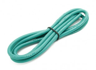 Turnigy Hoge kwaliteit 12AWG Silicone Wire 1m (Groen)