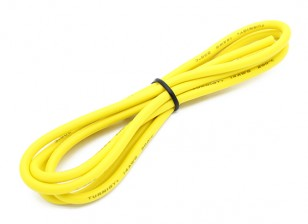 Turnigy Hoge kwaliteit 14AWG Silicone Wire 1m (Geel)